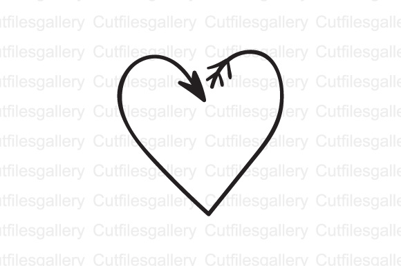 Download Free Arrow Heart Graphic By Cutfilesgallery Creative Fabrica for Cricut Explore, Silhouette and other cutting machines.