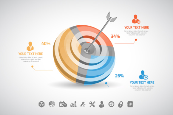 Print on Demand: Arrow Infographic Graphic Infographics By vito12
