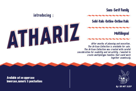 Print on Demand: Athariz Sans Serif Font By I Do Not Sleep