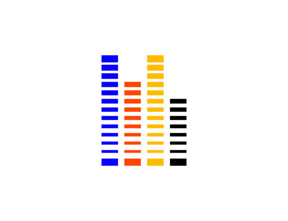 Download Free Audio Equalizer Visualisation Logo Graphic By Meisuseno for Cricut Explore, Silhouette and other cutting machines.