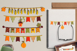 Autumn Bunting Banners Graphic By Revidevi
