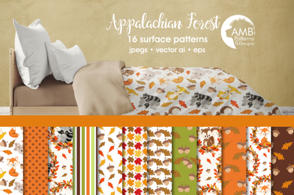 Autumn Papers Graphic Patterns By AMBillustrations