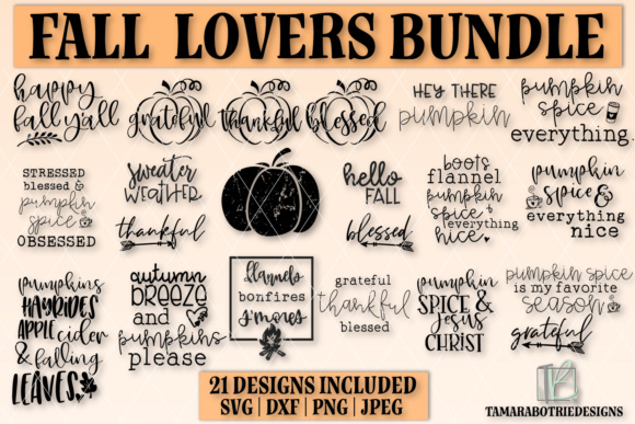 Download Free Autumn Bundle Fall Graphic By Tamarabotriedesigns Creative Fabrica for Cricut Explore, Silhouette and other cutting machines.