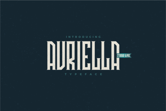 Print on Demand: Avriella Display Font By Nur Cholis