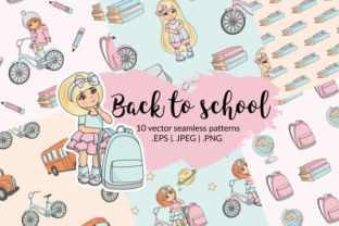 BACK to SCHOOL Autumn Vector Seamless Pattern Set Graphic By FARAWAYKINGDOM