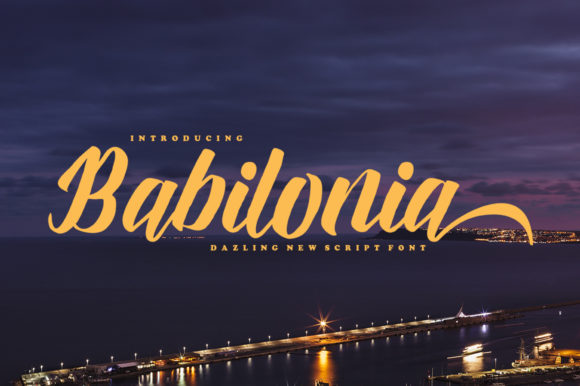 Print on Demand: Babilonia Script & Handwritten Font By delishadesign.font