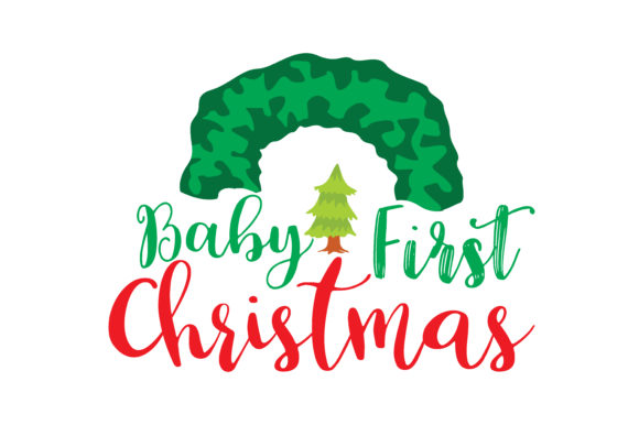 Download Free Baby First Christmas Graphic By Thelucky Creative Fabrica for Cricut Explore, Silhouette and other cutting machines.