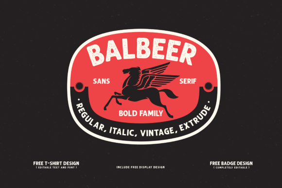 Print on Demand: Balbeer Sans Serif Font By gameboth.studio