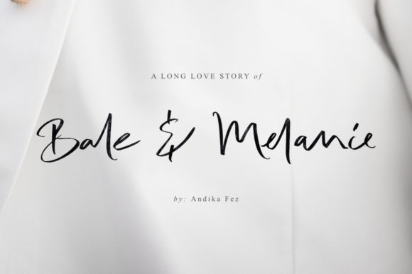 Print on Demand: Bale & Melanie Script & Handwritten Font By andikafez