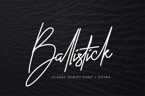 Print on Demand: Ballistick Script & Handwritten Font By Sigit Dwipa