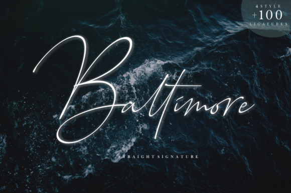 Print on Demand: Baltimore Family Script & Handwritten Font By Sronstudio