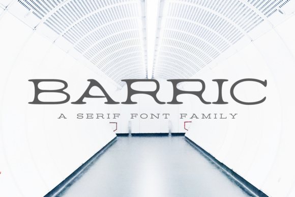 Print on Demand: Barric Family Serif Font By Creative Tacos
