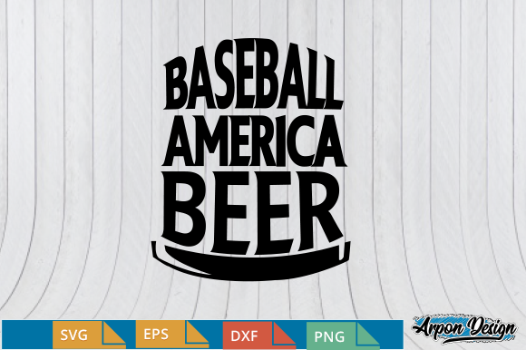 Download Free Baseball America Beer Graphic By Arpondesign Creative Fabrica for Cricut Explore, Silhouette and other cutting machines.