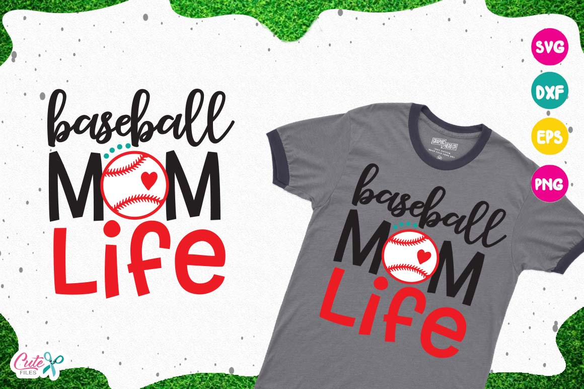 Download Free Baseball Mom Life Svg Cut Files For Craftter Graphic By Cute for Cricut Explore, Silhouette and other cutting machines.