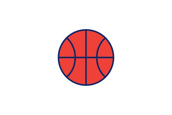 Print on Demand: Basket Ball Logo Graphic Logos By WANGS