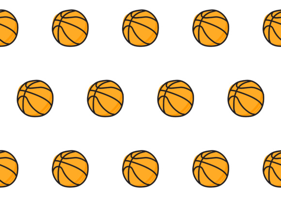 Download Free Basketball Seamless Pattern Graphic By Sabavector Creative Fabrica for Cricut Explore, Silhouette and other cutting machines.