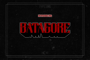 Batagore Font By Typeting Studio