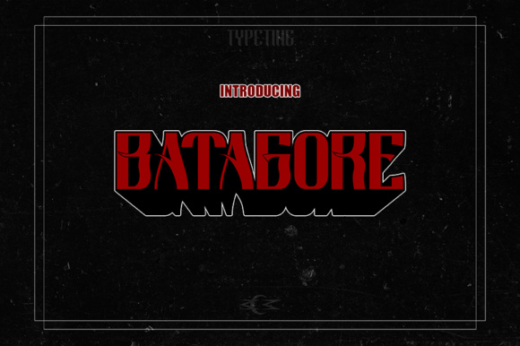 Print on Demand: Batagore Display Font By Typeting Studio
