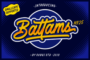 Battams Font By Subqi Std