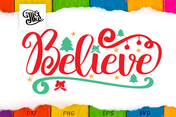Download Free Believe Christmas Winter Hand Lettering Graphic By for Cricut Explore, Silhouette and other cutting machines.