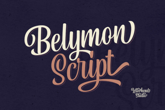 Print on Demand: Belymon Script Script & Handwritten Font By letterhend