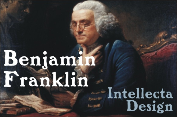 Print on Demand: Benjamin Franklin Display Font By Intellecta Design