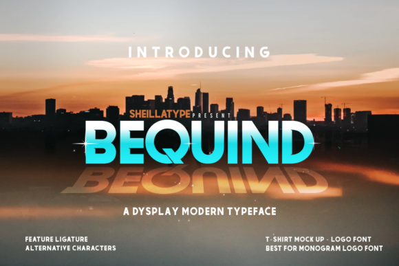 Print on Demand: Bequind Display Font By victoriant99
