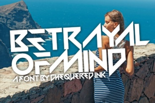 Print on Demand: Betrayal of Mind Display Font By Chequered Ink