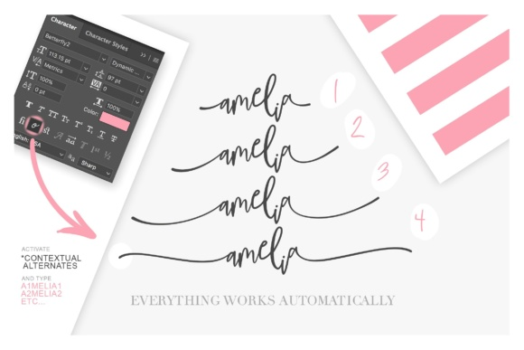 Print on Demand: BetterFly 2 Script & Handwritten Font By Blessed Print - Image 6