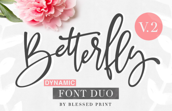 Print on Demand: BetterFly 2 Manuscrita Fuente Por Blessed Print