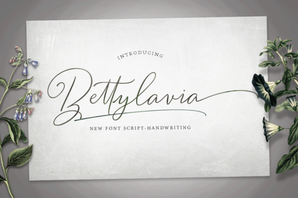 Download Free Bettylavia Font By Graphic Press Creative Fabrica for Cricut Explore, Silhouette and other cutting machines.