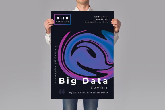 Big Data Poster Graphic Print Templates By TMint