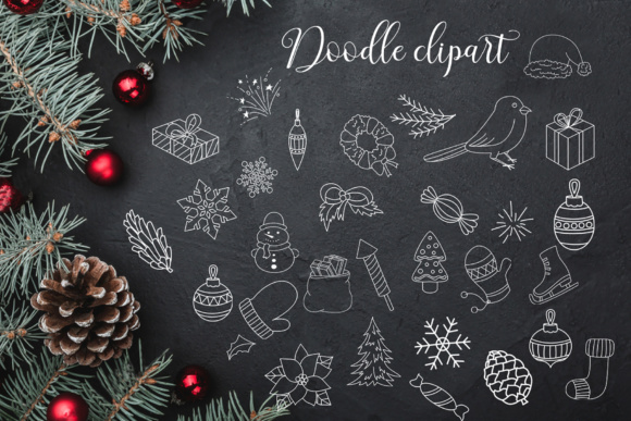 Download Free Big Winter Collection Bundle Graphic By Tregubova Jul Creative for Cricut Explore, Silhouette and other cutting machines.