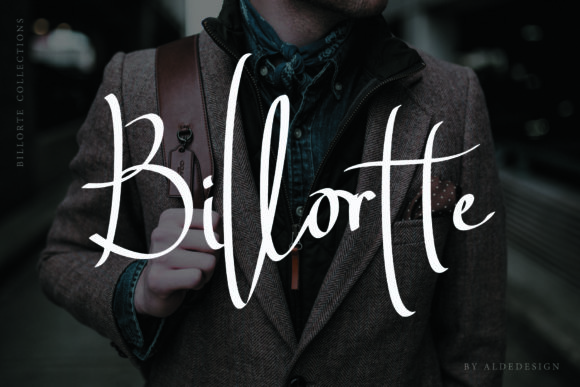 Print on Demand: Billortte Script & Handwritten Font By aldedesign