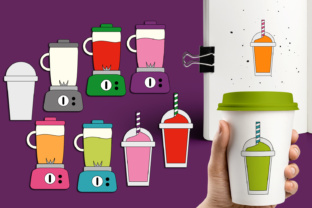 Blender and Smoothie Drinks Graphic By Revidevi
