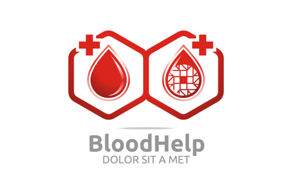Blood Help Logo Graphic Logos By Acongraphic