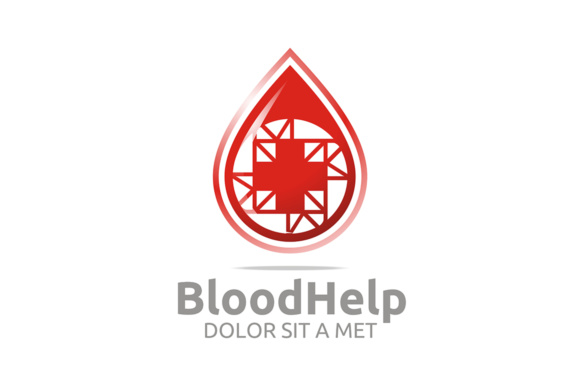 Blood Help Logo Graphic Logos By Acongraphic - Image 1