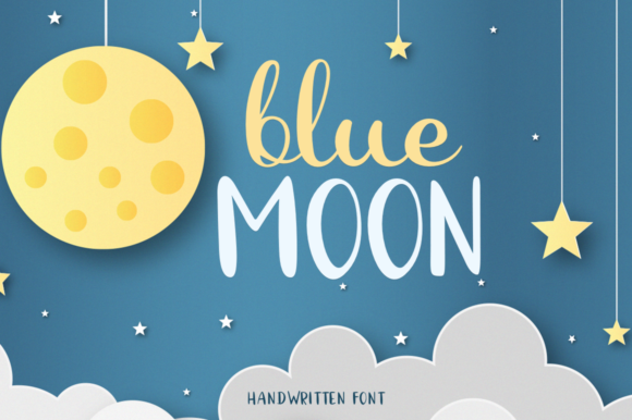 Print on Demand: Blue Moon Script & Handwritten Font By Pasha Larin