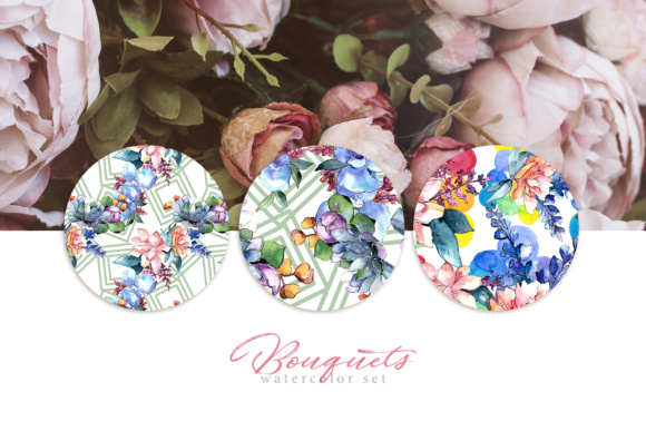 Print on Demand: Bouquets Flowers Set PNG Watercolor Graphic Illustrations By MyStocks - Image 3