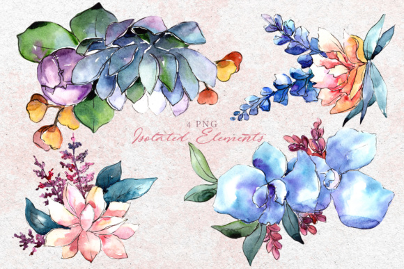 Print on Demand: Bouquets Flowers Set PNG Watercolor Graphic Illustrations By MyStocks - Image 8