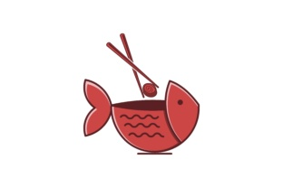 Download Free Bowl Fish Sushi Restaurant Logo Graphic By Yahyaanasatokillah for Cricut Explore, Silhouette and other cutting machines.