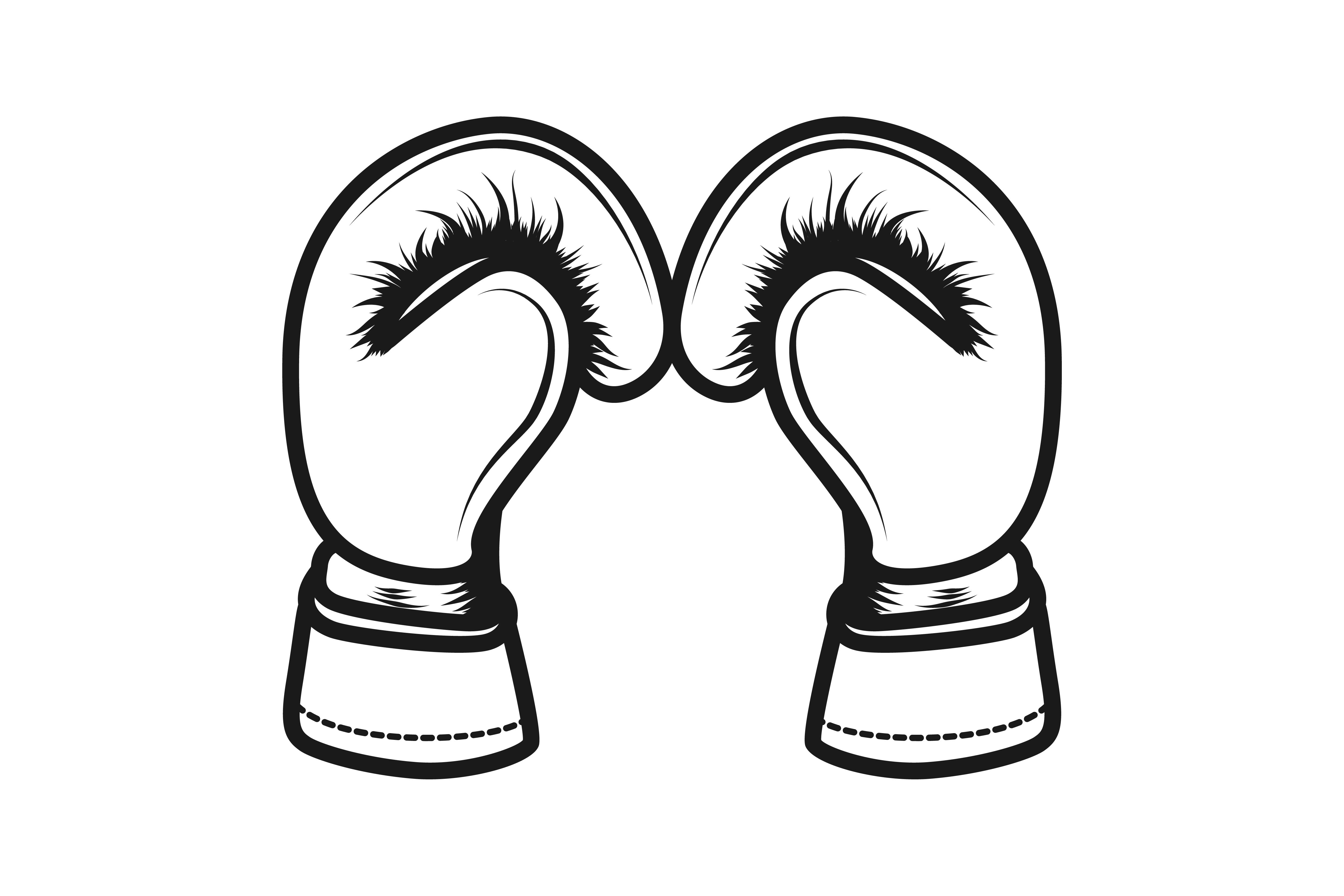 Download Free Boxing Gloves Logo Graphic By Yahyaanasatokillah Creative Fabrica for Cricut Explore, Silhouette and other cutting machines.