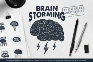 Print on Demand: BrainStorming the Smart Badges Graphic Logos By Cosmic Store
