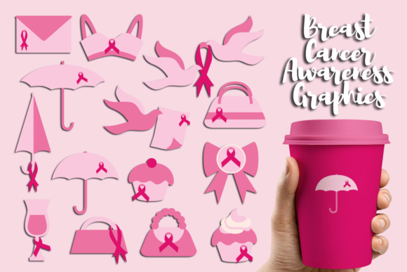 Print on Demand: Breast Cancer Awareness, October Pink Ribbon Day Graphic Illustrations By Revidevi