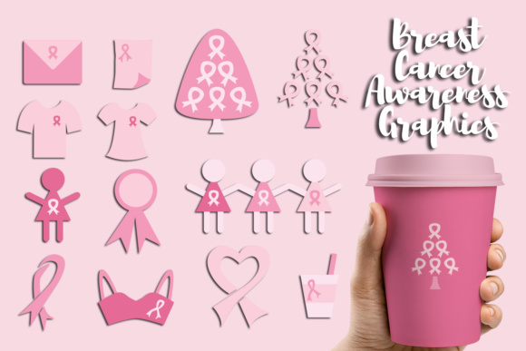 Print on Demand: Breast Cancer Awareness Graphic Illustrations By Revidevi