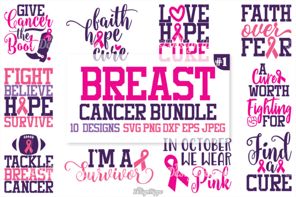 Breast Cancer SVG Cut Files