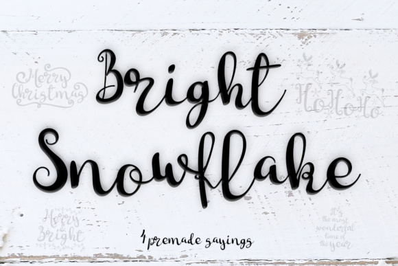 Print on Demand: Bright Snowflakes Script & Handwritten Font By Lickable Pixels