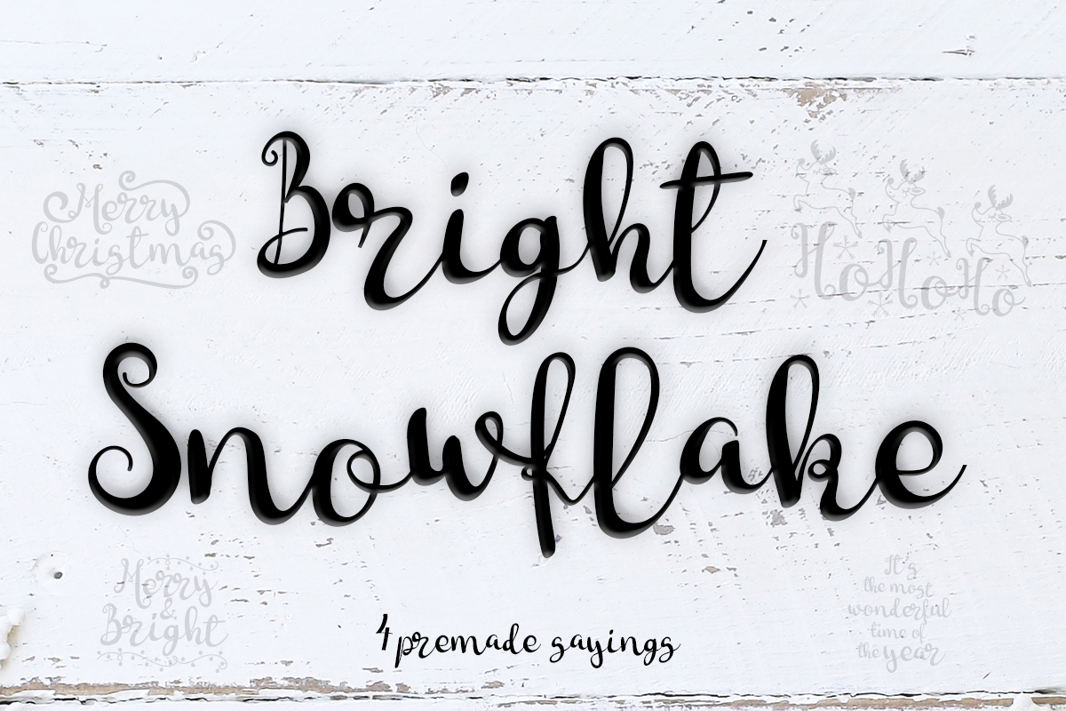 Download Free Bright Snowflakes Font By Lickable Pixels Creative Fabrica for Cricut Explore, Silhouette and other cutting machines.
