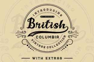 British Columbia Family Font By Haksen
