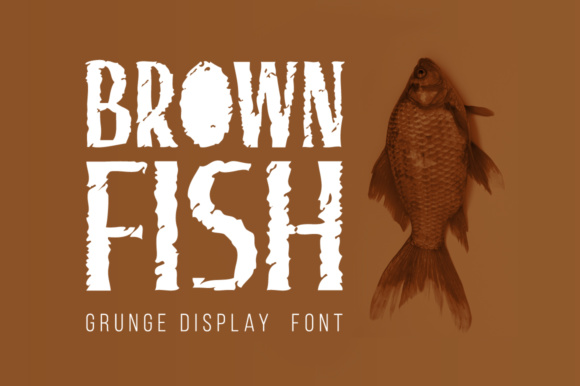 Print on Demand: Brown Fish Display Font By Shattered Notion